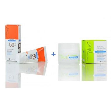 Panthenol Plus Aqua Repair Sunscreen SPF50 50ml & Aqua Repair Antiwrinkle Face & Eye Cream 50ml